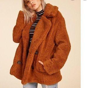 Free People Teddy Bear Coat size XS